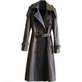 Mens trench coats man discoloration long coat men casual clothes slim fit overcoat long sleeve 2020 new designer autumn winter