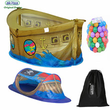 akitoo 127 2 types Children's Tent Indoor Large Game  Ship Princess Baby Big House Ocean Ball Pool Outdoor garden education tent