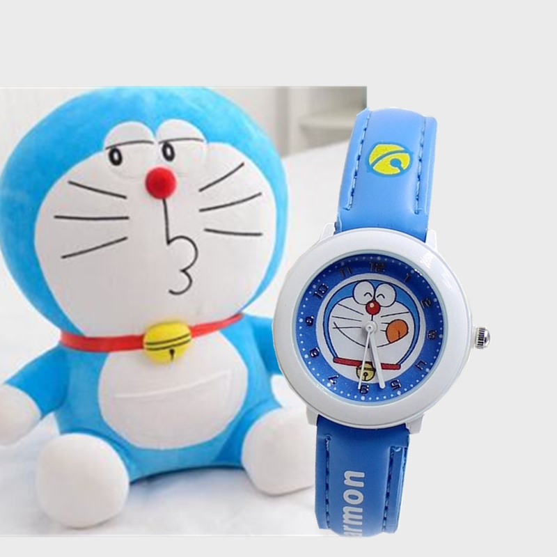 Childrens watch boys and girls cartoon Doraemon tinkling cat primary and middle school students waterproof quartz  watchChildrens watch boys and girls cartoon Doraemon tinkling cat primary and middle school students waterproof quartz  watch
