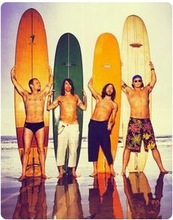 a5ffdd36124b6 Surf Surfing Red Hot Chili Peppers Rock Music Vintage Retro Poster Canvas  Painting Wall Sticker Home