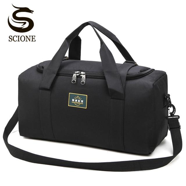 Bolsos de viaje de nailon para hombre y mujer, bolsas de viaje de gran capacidad, 2 tamaños, multifuncionales, para hombro