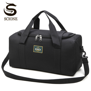 Image 1 - Fashion Men Travel Bags Male Luggage Bag Nylon Large Big Capacity 2 Sizes Duffel Bags Multifunction Shoulder Handbags for Women