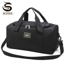Moda erkekler seyahat çantaları erkek bagaj çantası naylon büyük büyük kapasiteli 2 boyutları Duffel çanta çok fonksiyonlu omuz çantası kadınlar için