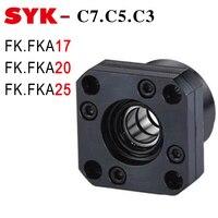 SYK End Support Unit C3 FK17 C7 FKA20 FK20 C5 FK25 Motor Bracket Nut Housing for Ballscrew SFU 2505 3205