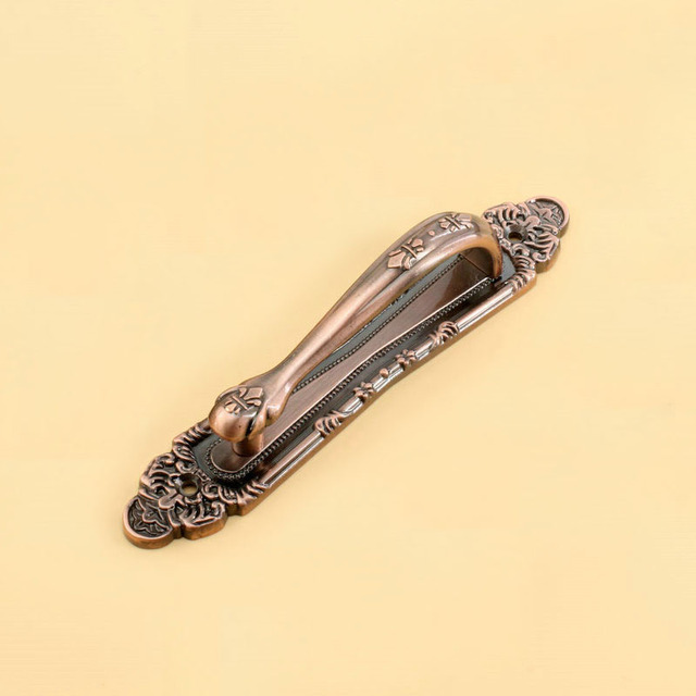 Fashion Design Antique Copper Handle With The Villa Door To Open The Door The Door Handle Contact(C.C.:187mm,Length:248mm)