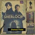 Sherlock inglês tv Fosco Retro Kraft Papel Poster Antigo Do Vintage Adesivo de Parede Casa Decora
