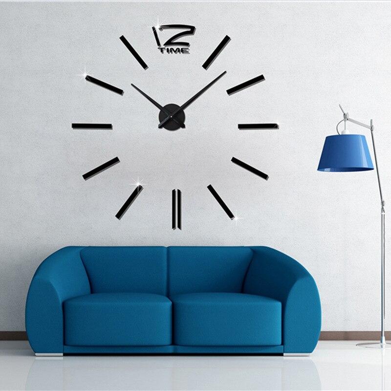 2019 мушейин 3D Wall Clock үлкен жарнамалық - Үйдің декоры - фото 4