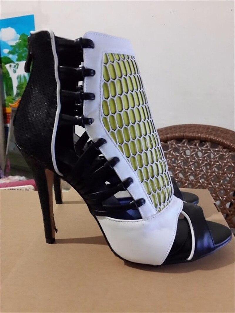 Cremallera Serpentina Zapatos Más Color color 1 2 Espalda Tamaño Gladiador Partido Mujer Mujeres color color Diseñador 3 5 color Marca Tacones Sandalias Bombas Altos 4 Lujo Hueco xXZOY