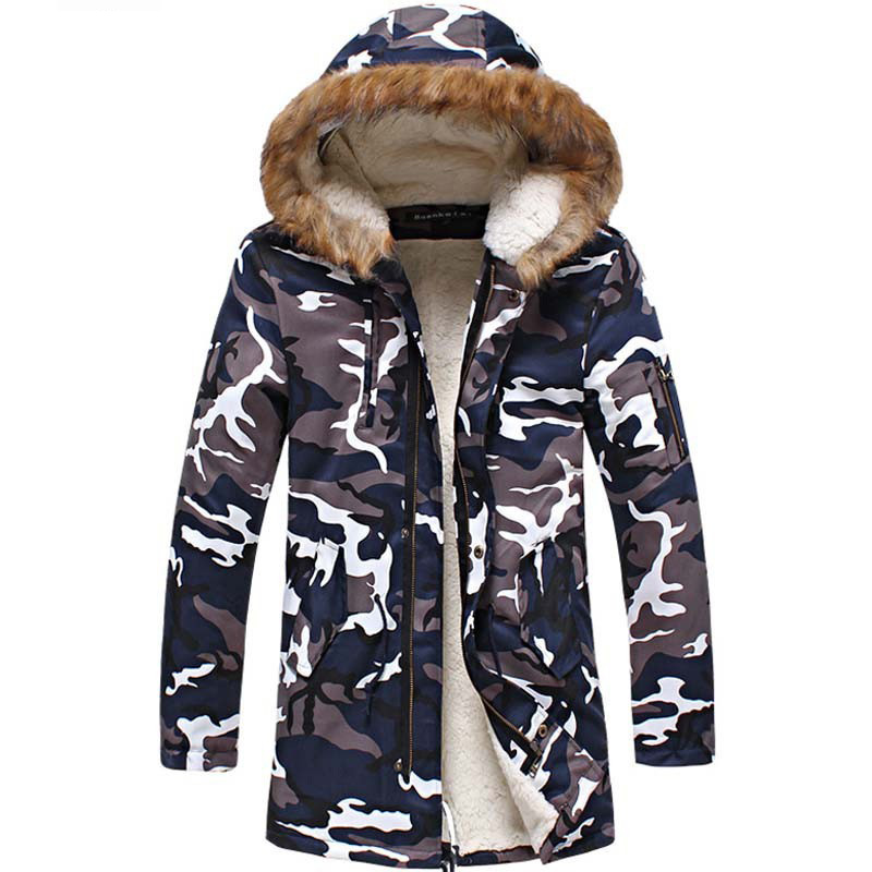 Winter Parka 2016 Men Coat Men Thick Warm Jacket Camouflage Overcoat large Cotton-padded Jacket Long Outwear Plus Size M-5XL 2016 new fashion men winter down jacket men parka coat thick warm cotton padded jacket mens winter coat jacket parka men 98