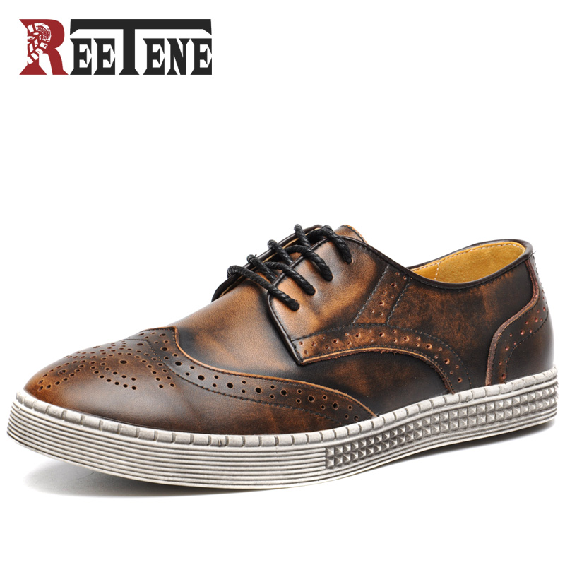 Genuine Leather Brogue Shoes Men,Leather Sport Men Shoes,High Quality Men Flats Shoes,Casual Men Shoes Chaussures Richelieu top brand high quality genuine leather casual men shoes cow suede comfortable loafers soft breathable shoes men flats warm