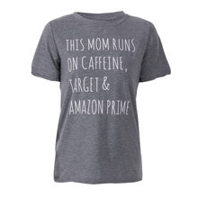 79aa152ad Plus Size Women T-Shirts Summer This Mom Runs On Caffeine Target Short  Sleeve Printing