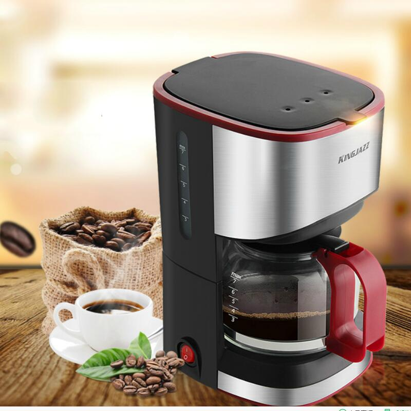 KINGJAZZ Coffee machine Household Fully automatic American style Drip type Small coffee pot coffee machine home american style drip type fully automatic small mini coffee pot