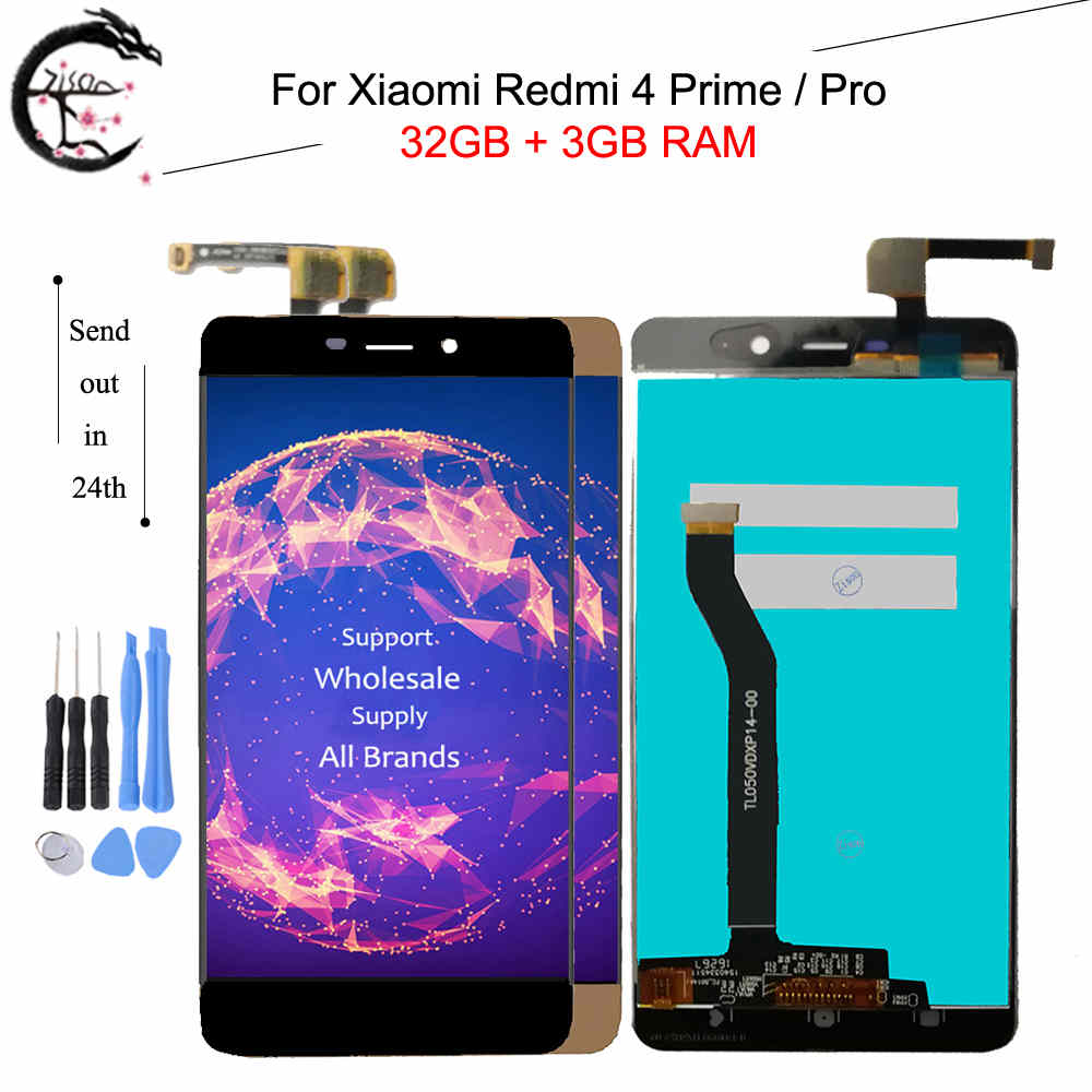 For <font><b>Xiaomi</b></font> <font><b>Redmi</b></font> <font><b>4</b></font> <font><b>Pro</b></font> Redmi4 <font><b>Prime</b></font> LCD display + Touch Screen Digitizer High Quality Replacement With Frame 5.0 inch 3G RAM image