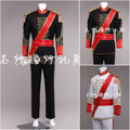 2016 fashion Male royal clothing performance wear clothes wedding dress black white royal clothing for singer dancer star bar