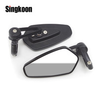 Universal Motorcycle bar end mirror Scooter Rearview Mirrors retroviseur moto FOR sv 650 virago 535 bobber yamaha xmax vespa gts