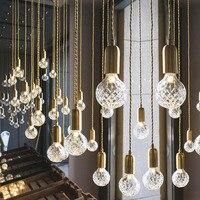 Modern G9 LED Pendant Lights Crystal Glass Handlamp Nordic Pendant Lamps for Living Room/Restaurant/Home Lighting AC220V