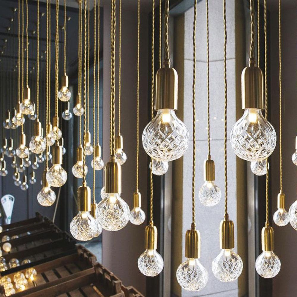 Современные G9 Светодиодные подвесные светильники Хрустальное стекло ручной светильник скандинавские подвесные лампы для гостиной/ресторана/домашнего освещения ac220в Подвесные светильники      АлиЭкспресс