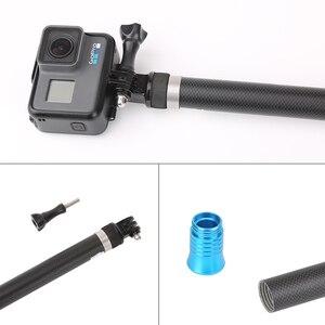 "Image 2 - 106"" Long Carbon Fiber Handheld Selfie Stick Extendable Pole Monopod for GoPro Hero 6 5 4 3 Xiaomi YI SJCAM Eken SOOCOO"
