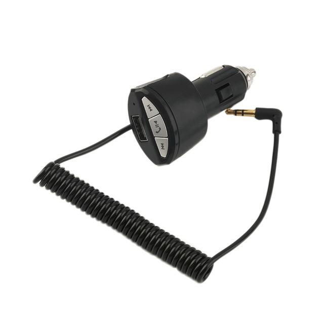Беспроводной Связи Bluetooth Car Handsfree Стерео Аудио Музыка Приемник Адаптер 3.5 мм AUX АВТО с USB Зарядное Устройство От Прикуривателя Для A2DP