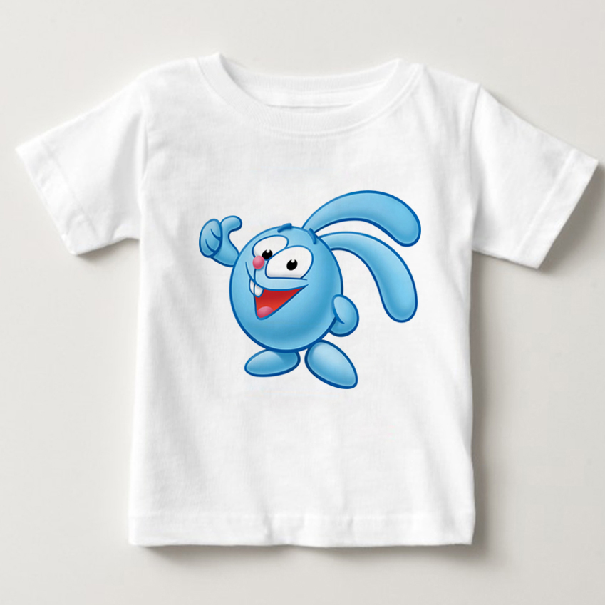 Malyshariki Smeshariki Russian Cartoon T shirt Baby children's Shirt Kid lovely cartoon character Tee-shirt Cotton Animation NN