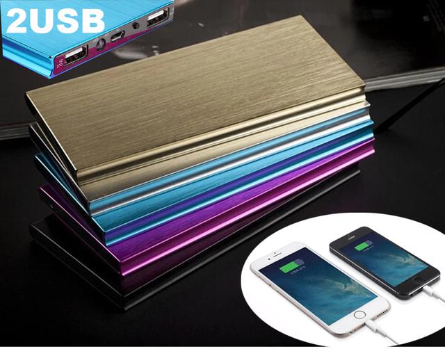 De alta Calidad Ultra Delgada de Metal Banco de la Energía 10000 mAh Móvil Externo batería portátil banco de alimentación para iphone 6 s plus 6 s y otros