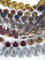 5strands 8x8mm Crystal like crystal beads chinese glass drop teardrop faceted multicolor jewelry beads