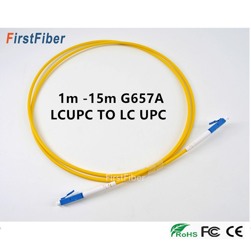 LC UPC Fiber Optical Patch Cord SM LC Patch Cable 2.0mm Fiber Jumper LC Connector G657A Simplex Single Mode  1m 2m 3m 5m 10m 15m