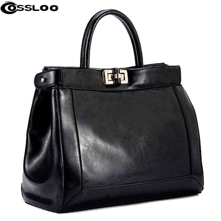 COSSLOO Women messenger bag patent leather handbag Brand crossbody Luxury Tote women travel Leather handbags shoulder bags bolsa patent leather handbag shoulder bag for women