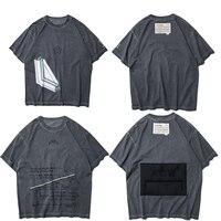 2019SS ACW A COLD WALL Splashing ink Logo Printed Women Men T shirts Hip hop Streetwear Men Cotton Distressed tee 14 styles