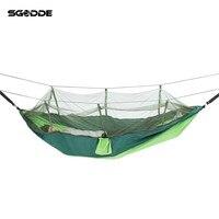 SGODDE Double Parachute Mosquito Net Hammock Chair Tourism Flyknit Hamaca Hamak Rede Garden Swing Camping Amaca