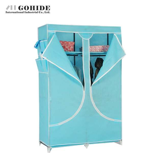 Gohide Easy Folding Non-Woven Wardrobe Cloth Wardrobe Good Hermetic Home Furnishing Decoration Non-Woven Fabric Closet