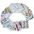 64 unids 64 Diseños Nail Sets Sticker Etiquetas Del Clavo de La Cubierta Completa de La Cubierta Completa Del Arte Del Clavo Colorido de Impresión Wraps Consejos de Maquillaje STZ145-208