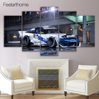 5 Piece Canvas Painting Nissan Sports Car HD Posters And Prints Canvas Painting For Living Room