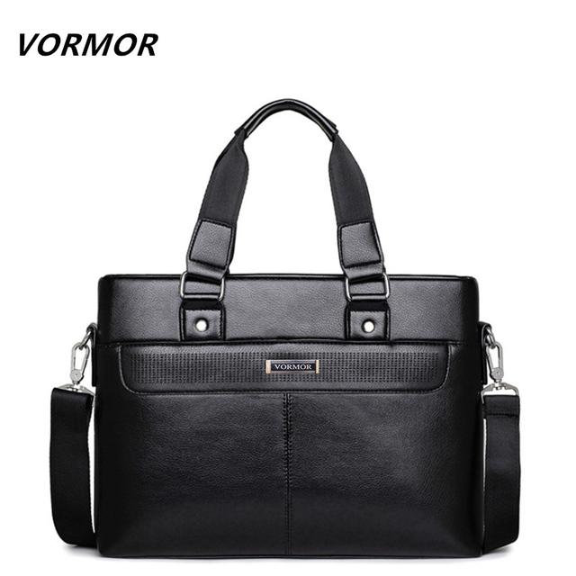 Vormor promoção dot simples famosa marca homens de negócios maleta bolsa para laptop de couro homem bolsa de ombro bolsa maleta saco de luxo