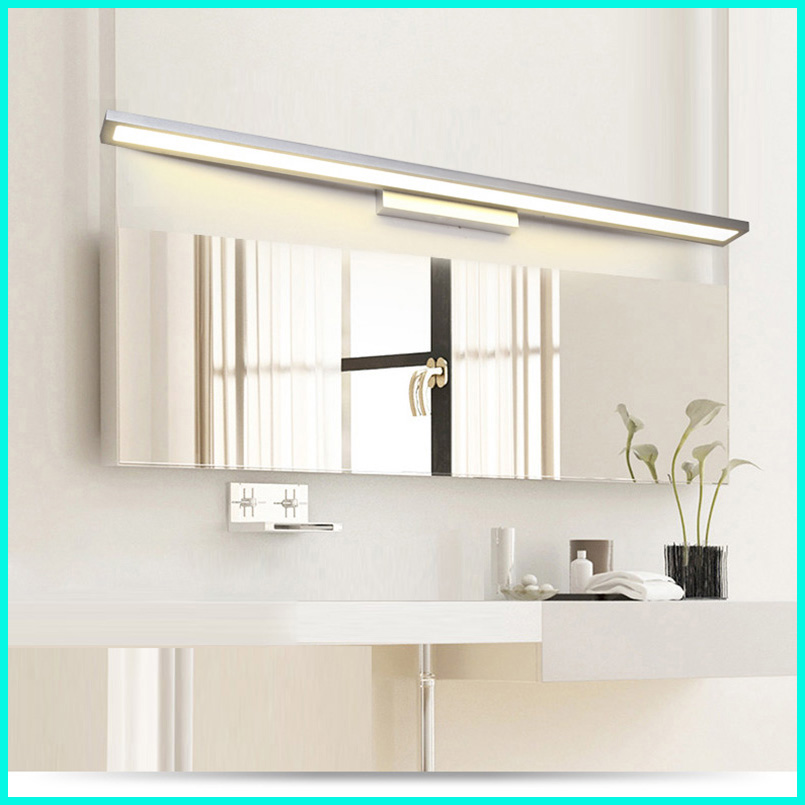 Nordic bathroom mirror headlight led bathroom mirror light modern simple toilet lamp bathroom waterproof wall lamp 40cm 12w acryl aluminum led wall lamp mirror light for bathroom aisle living room waterproof anti fog mirror lamps 2131
