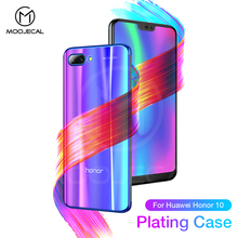 MOOJECAL For Huawei Honor 10 Case Luxury Soft Silicone Transparent Fashion Plating Back Cover Cases For Honor 10 Phone Case