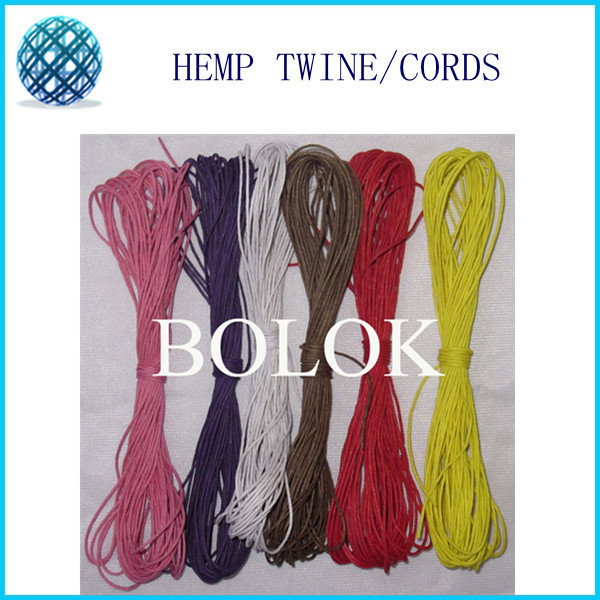 1mm waxed and colored hemp cords 36pcs/lot(10m/bundle)(total 360m) 12 - Festive and Party Supplies