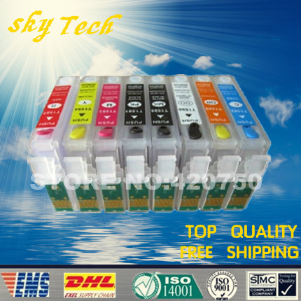 Empty Refillable Ink Cartridge For Epson R2000  suit for T1590 to T1594 1597 T1598 T1599   with ARC chips|cartridge chip|cartridge system|cartridge brother - title=