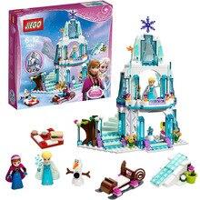 316 unids Castillo de Hielo del Sueño Princesa Elsa Princesa Anna Olaf Establece Bloques de Construcción Modelo de Regalos Juguetes Compatible lepin Amigos