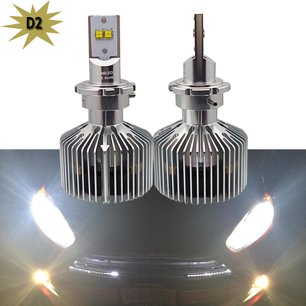 D1 D1S D1R D2 D2S D3 D3S D4 D4C LED Canbus 9000Lm LED Headlight Kit Conversion Bulbs Replace Halogen and Xenon HID Light 2pcs d1 d2 d3 d4 d2s d2r d2c d4 car led headlight conversion kit 110w 10400lm 6000k white light bulbs