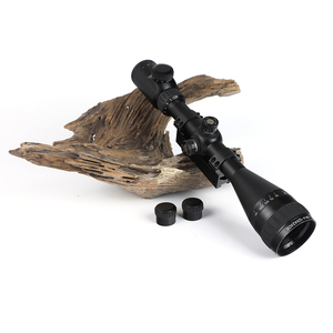 Image 5 - KANDAR KH 4 12x42 AOE Hunting Riflescope Red Illuminated Glass Etched Reticle Sniper Optic Rifle Scope Sight with Ring
