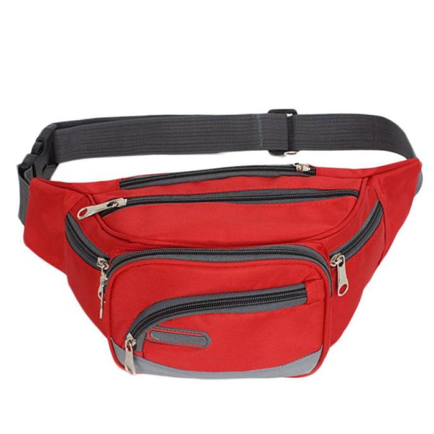 RTDBG Men Female Fanny Pack Waist Bag Bum Bag Travel Casual Functional  Money Phone Belt Pouch Belt Bag Large Capacity