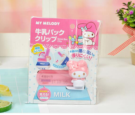 Bag Clips Home & Garden Novelty Households Cartoon My Melody Snacks Plastic Food Milk Bag Clip Size 8x5cm 5 Pcs