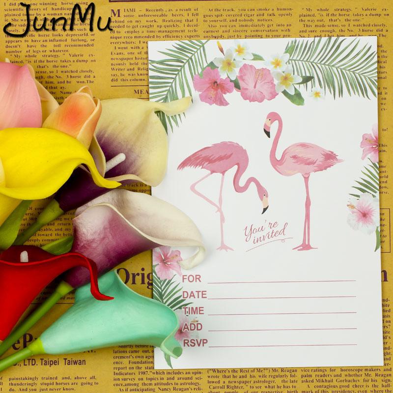 3 12 31 De Descuento 10 Juegos De Tarjetas De Cumpleaños De Flamencos Pegatinas Invitaciones Tarjetas De Invitación De Cumpleaños Para Niños