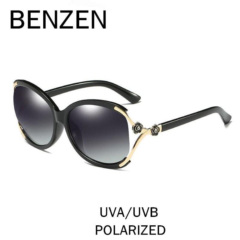 66cc4e17ad198 BENZEN Flor Luxo Óculos De Sol Das Mulheres Designer de Marca Polarizada  Óculos de Sol Das Senhoras do Sexo Feminino Condução Óculos Shades Com  Caixa 6370 ...