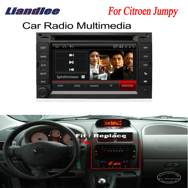 Car Android Gps Navigation Radio Tv Dvd Player For Citroen Jumpy