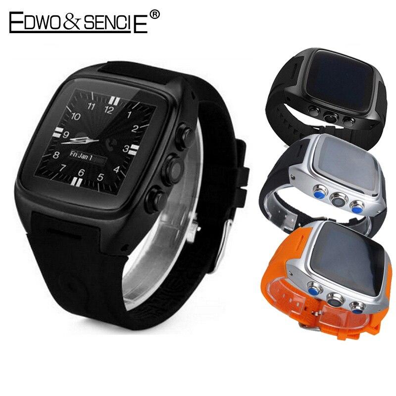 EDWO X01 Bluetooth Smart Watch MTK6572 Dual Core Android 5 1 RAM 512MB ROM 4G Pedometer