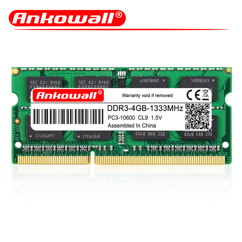 ANKOWALL DDR3 2GB/4GB/8GB Laptop RAM Memory with 1333MHz/1600MHz Memory Speed 1