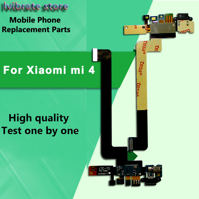 New USB Charging flex For xiaomi mi 4 Charger Port Dock <font><b>Connector</b></font> <font><b>FPC</b></font> Flex Cable For xiaomi mi4 M4 replacement <font><b>repair</b></font> image
