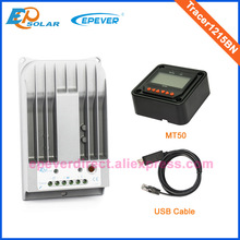 MPPT 10A 12v 24v portable solar panel charger regulator Tracer1215BN with MT50 and USB cable